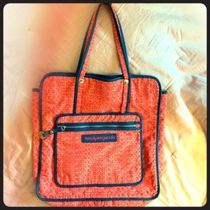 Marc by Marc Jacobs Red and Blue Stylish Tote
